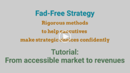 Fad-Free Strategy - Tutorial - From accessible market to revenues